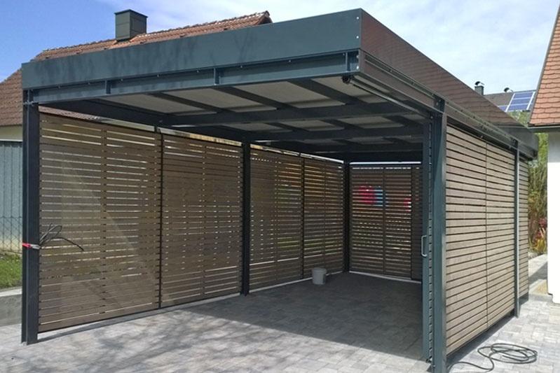 Schiebetür carport  Neubau eines Carports in Obertraubling, Landkreis Regensburg (0167 ...