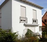 Kettenhaus Perspektive Westansicht Haus 1