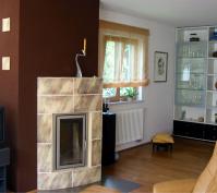 Kettenhaus Innenansicht Designer Kamin