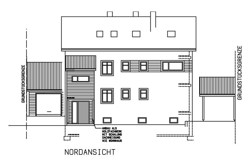 Sanierung Schwandorf Plan Nordansicht