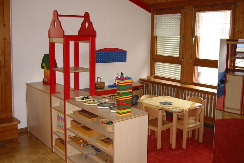 Innengestaltung Kindergarten Puppenecke Gruppe 4