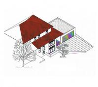 Toskana Haus Südansicht