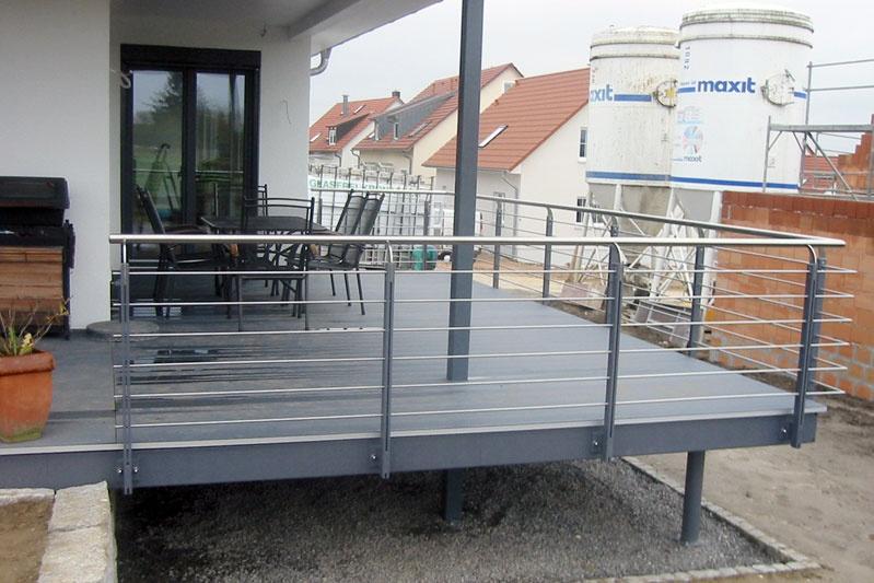 Toskana Haus Detailansicht Balkon