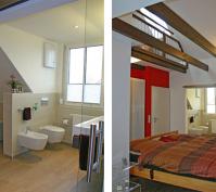 Dachgeschossausbau Innenansicht Bad Und Schlafbereich