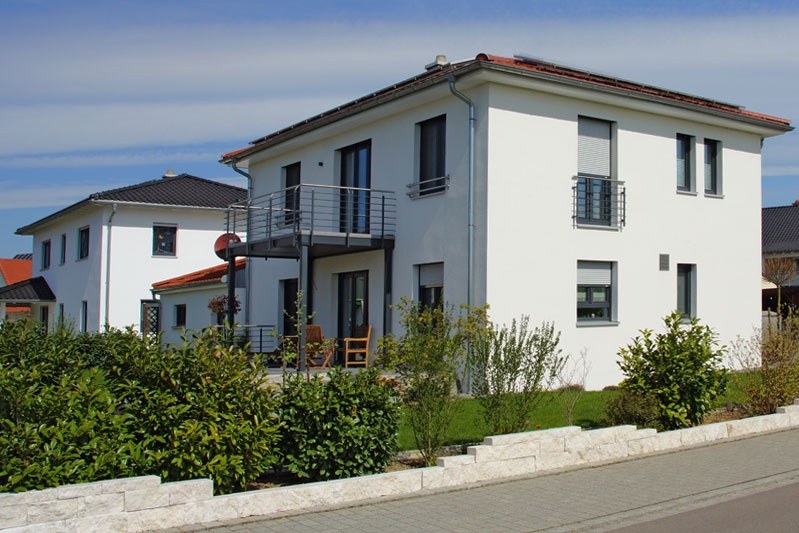 wohnhaus im toskana baustil in neutraubling 0134 merkl architektur. Black Bedroom Furniture Sets. Home Design Ideas