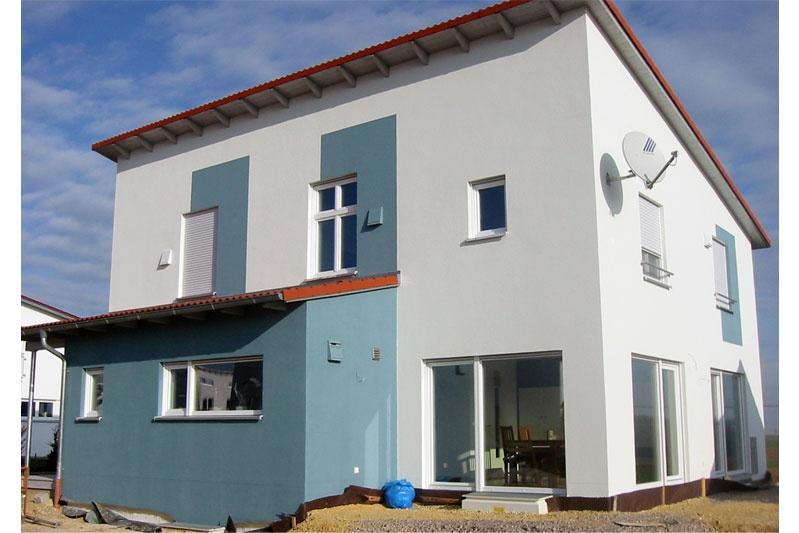 Pultdachhaus Aussenansicht