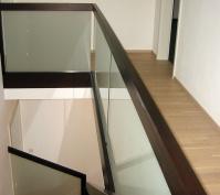 Pultdachhaus Treppenverglasung