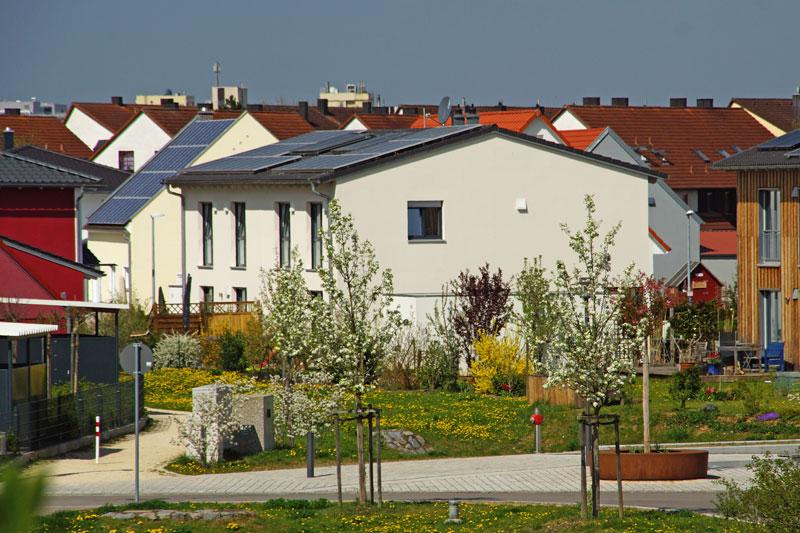 Doppelhaus Aussenansicht Wohnanlage