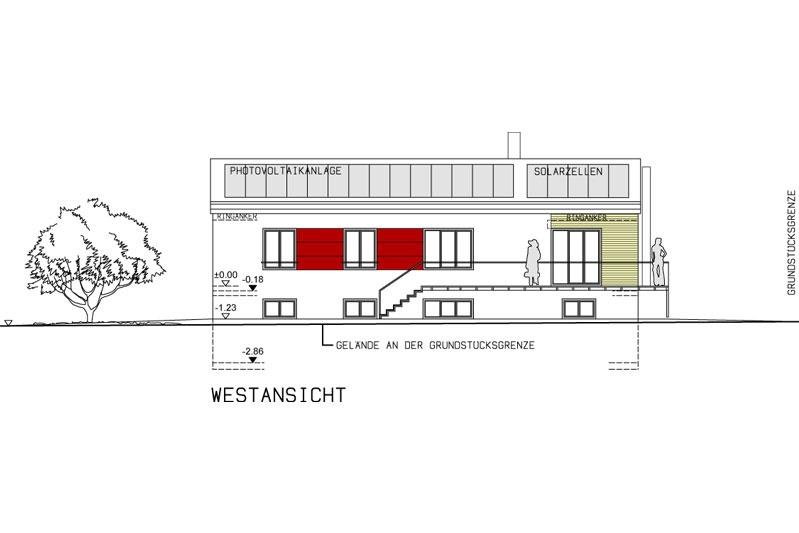 EFH Schwandorf Westansicht