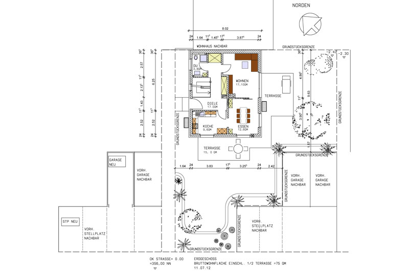 Kettenhaus Plan Gartenanlage