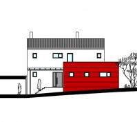 Kfw 100 Wohnhaus Mit Einliegerwohnung Nordwestansicht