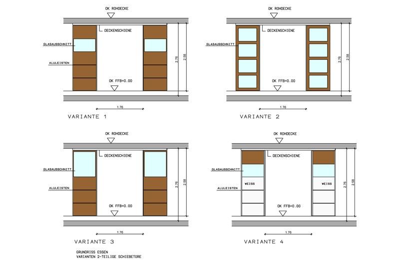 KfW 100 Wohnhaus mit Einliegerwohnung Schiebetürvarianten