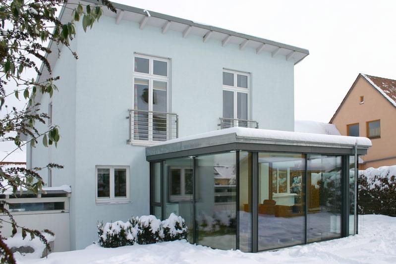 Wintergartenanbau in obertraubling 0143 merkl architektur - Wintergarten reihenhaus ...