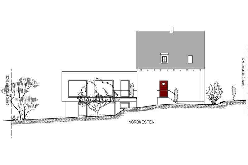 Sanierung Ganghofersiedlung Regensburg Nordwestansicht