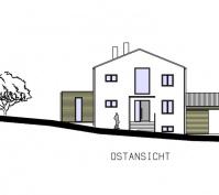 Einfamilienhaus Obertraubling Perspektive Ostansicht
