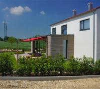 Einfamilienhaus Obertraubling Detail Anbau Und Terrasse