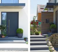 Einfamilienhaus Obertraubling Ansichten Eingang