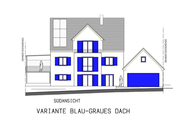 Oberpfälzer Haus Dachvariante Grau