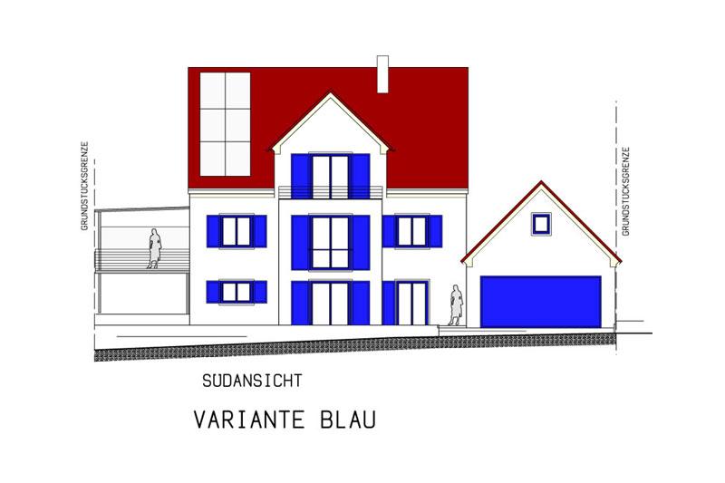 Oberpfälzer Haus Dachvariante Rot
