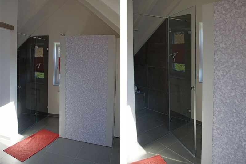Umbau Pettendorf Elternbad Walk-In-Dusche und Dampfbad