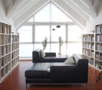 Umbau Pettendorf Verschattung Südfenster Bibliothek