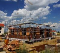 Efh Mit Einliegerwohnung Sünching, Lkr. Regensburg, Bauphase Rohbau