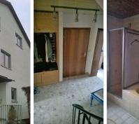Sanierung Einer Doppelhaushälfte In Zeitlarn, Landkreis Regensburg, Ansichten Vor Sanierung