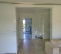 Sanierung Einer Doppelhaushälfte In Zeitlarn, Landkreis Regensburg, Glasschiebetür Wohnzimmer
