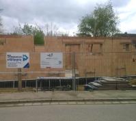 Zwei Doppelhaushälften Neutraubling, Bauphase