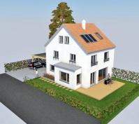 Doppelhaushälfte In Schwabelweis, Stadt Regensburg, Planungsansicht Außen