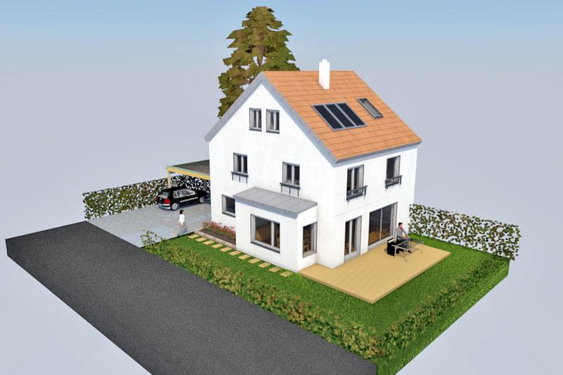doppelhaush lfte in schwabelweis stadt regensburg 0177. Black Bedroom Furniture Sets. Home Design Ideas