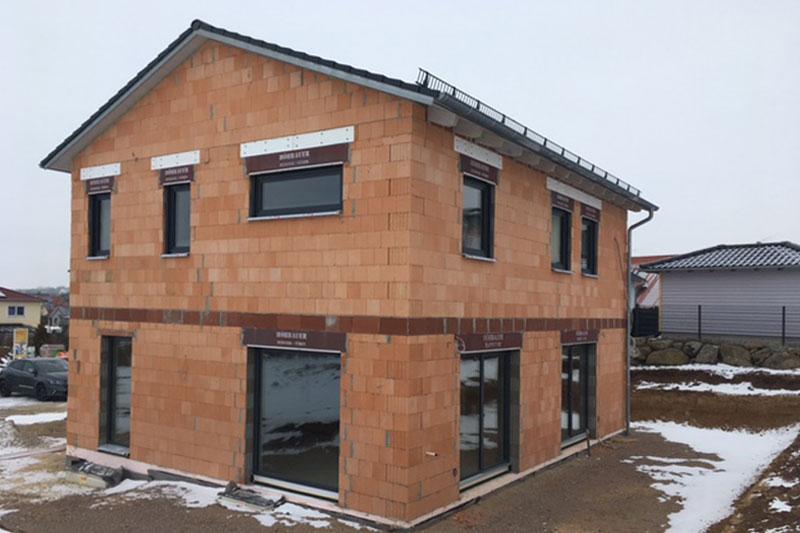 Einfamilienhaus mit Doppelgarage in Köfering, Landkreis Regensburg, Bauphase