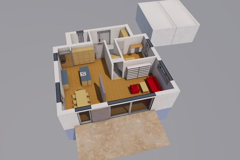 Einfamilienhaus mit Doppelgarage in Köfering, Landkreis Regensburg, Planung EG innen