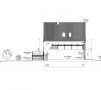 Neubau Einfamilienhaus In Büchelkühn, Landkreis Schwandorf, Planungsansicht Nordosten