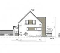 Neubau Einfamilienhaus In Büchelkühn, Landkreis Schwandorf, Planungsansicht Nordwest