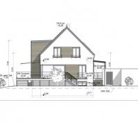 Neubau Einfamilienhaus In Büchelkühn, Landkreis Schwandorf, Planungsansicht Südosten