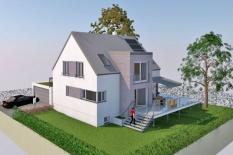Neubau Einfamilienhaus in Büchelkühn, Landkreis Schwandorf, Planungsansicht 3D