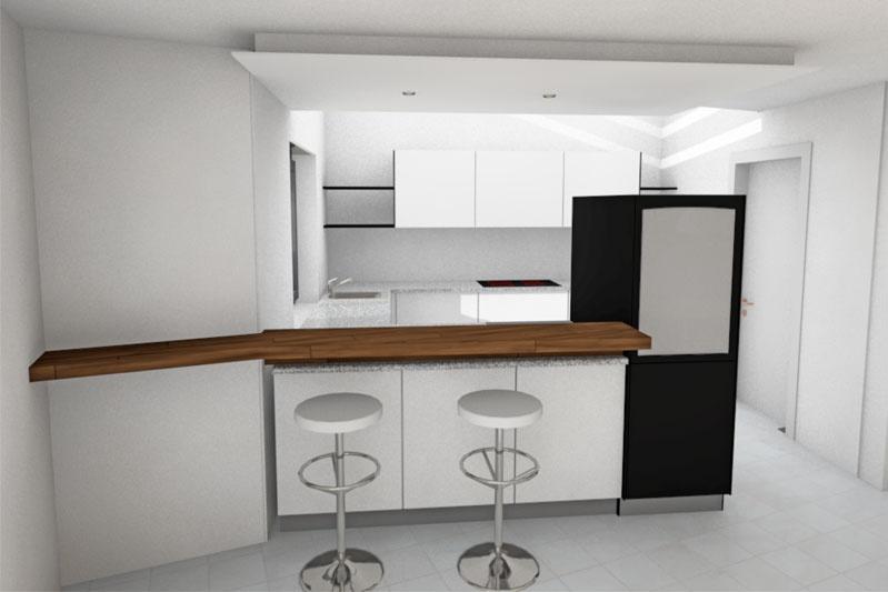 Neubau Einfamilienhaus in Thalmassing, Landkreis Regensburg, Planung Küche