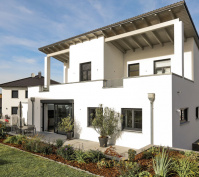 Neubau Einfamilienhaus In Thalmassing, Landkreis Regensburg, Aussenansicht Tag