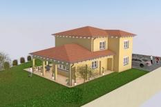 Neubau Einfamilienhaus in Obertraubling, Landkreis Regensburg, Planung Aussenansicht