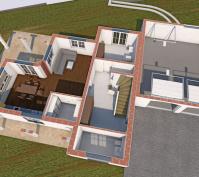 Neubau Einfamilienhaus In Obertraubling, Landkreis Regensburg, Planung Innenansicht Eg