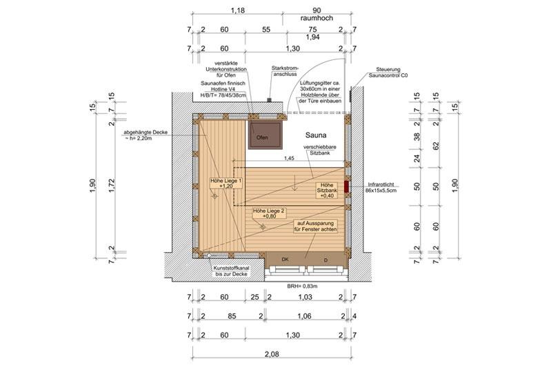 Sanierung Reihenmittelhaus Regensburg Sauna