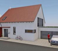 Neubau Kettenhaus In Burgweinting, Regensburg Stadt, Planung Aussenansicht