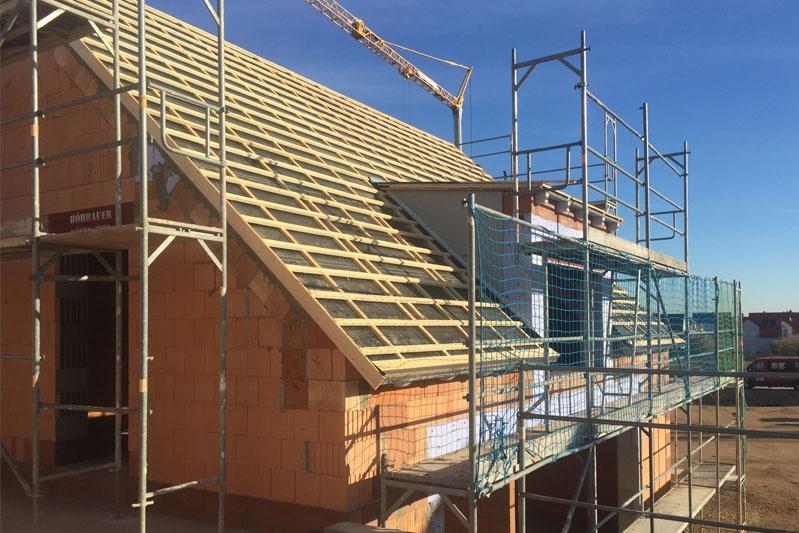 Neubau Kettenhaus in Burgweinting, Regensburg Stadt, Bauphase Außenansicht