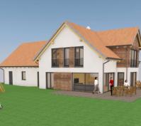 Neubau Einfamilienhaus Holzbauweise In Illkofen, Landkreis Regensburg