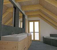 Neubau Einfamilienhaus Holzbauweise In Illkofen, Landkreis Regensburg, Planung Bad