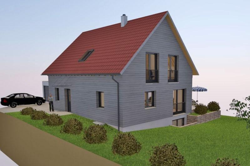 Neubau Einfamilienhaus Holzbauweise in Piesenkofen, Landkreis Regensburg