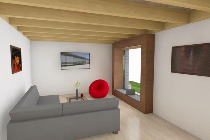 Neubau Einfamilienhaus Holzbauweise in Piesenkofen, Landkreis Regensburg, Planung innen