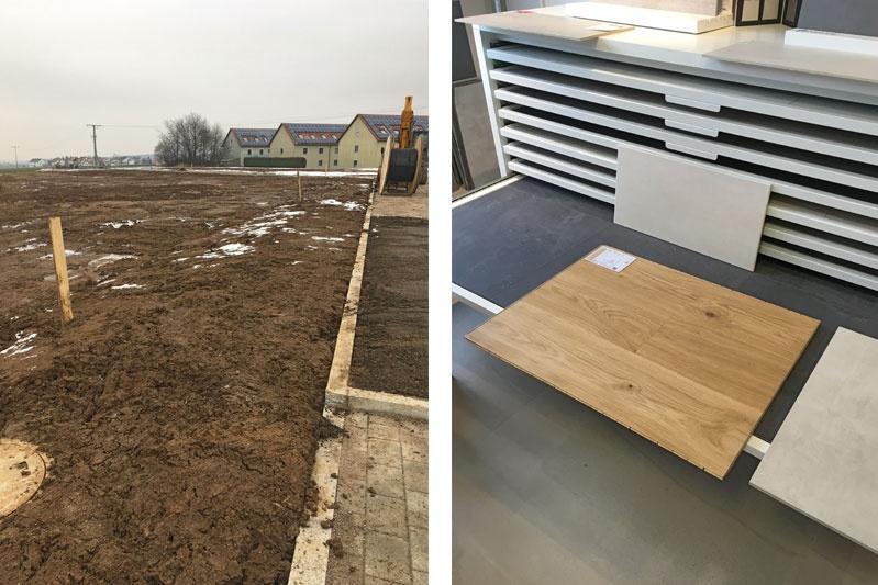 Neubau zwei Doppelhaushälften und ein Kettenhaus in Oberisling, Stadt Regensburg