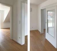 Neubau Zwei Doppelhaushälften Und Ein Kettenhaus In Oberisling, Stadt Regensburg, Ansichten Flur Und Wohnraum